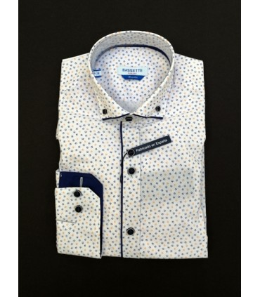 Camisa -  - Camisa estampada alegre y elegante. Modelo espalda recta. What do you want to do?