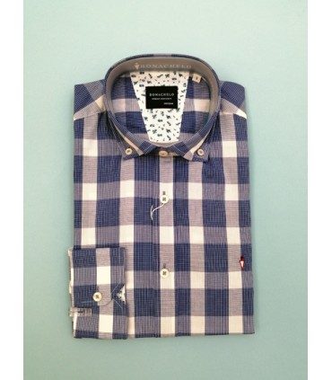 Camisa -  - Camisa azul a cuadros juvenil de algodón tratado. What do you want to do? New mail